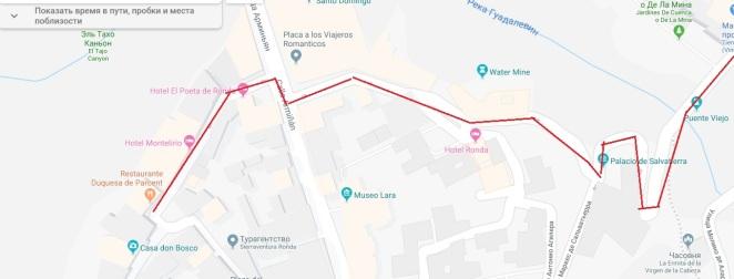 Карта прогулка 1