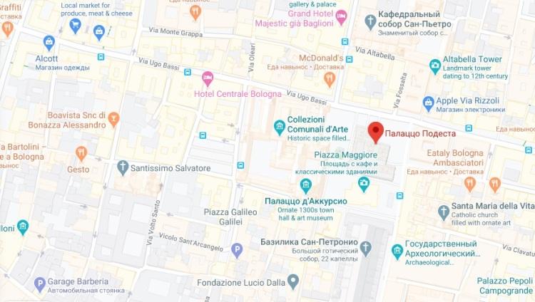 map palazzo podesta