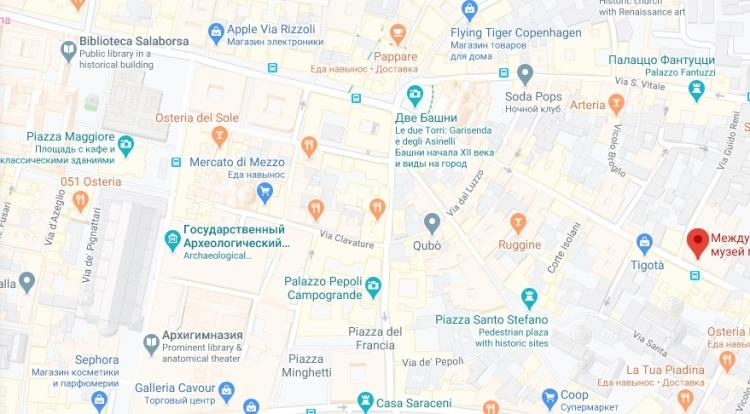 map biblioteca e museo musicale