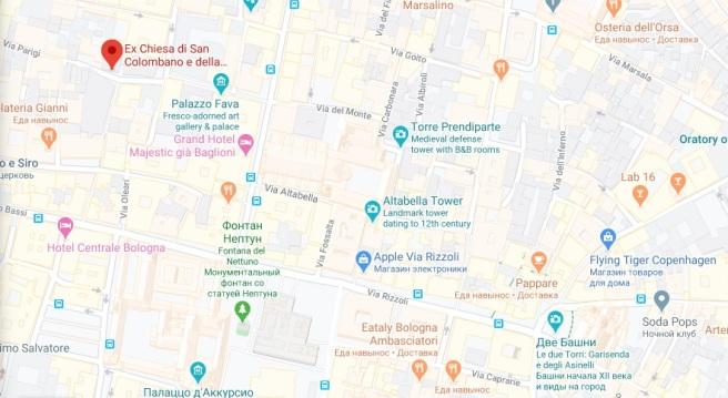 map chiesa columbano
