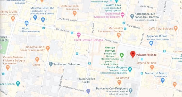 map palazzo enzo
